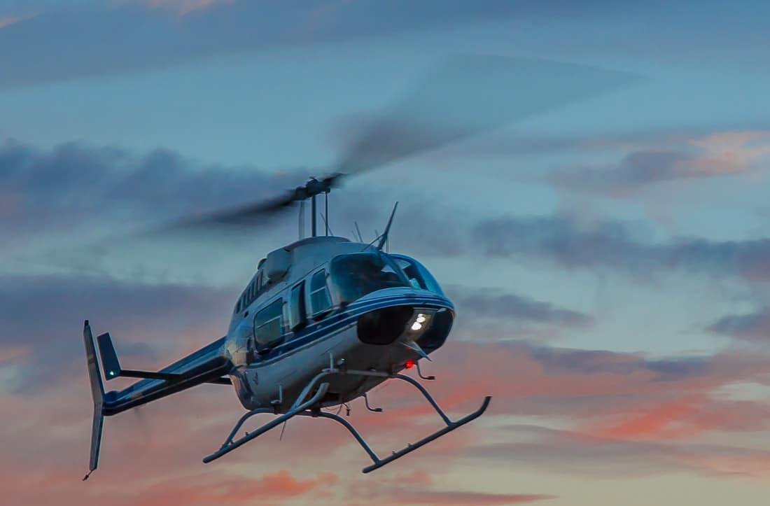 Bell Jet Ranger in flight - FAA's Numbers Show Continual Decrease in US Helicopter Accident rate