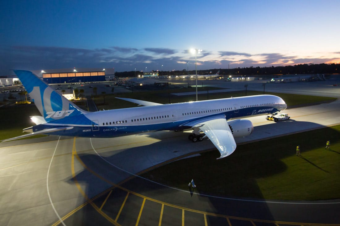 Boeing 787-10 Dreamliner at the company's South Carolina facility
