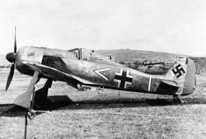 A Focke-Wulf FW 190A-3 on the ground