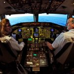 A male and female airline pilot in a Boeing 757 cockpit - Do Men or Women Make a Better Pilot?