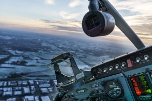 cockpit view of horizon at dusk - Stall Prevention and Stall Training