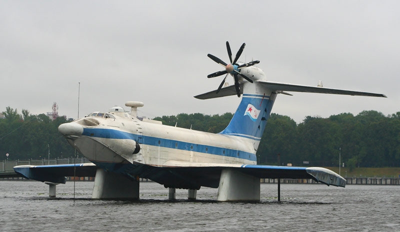 A-90 Orlyonok Ekranoplan on display at a Soviet Navy museum