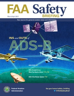 Copy of the cover of the March-April 2017 FAA Safety Briefing