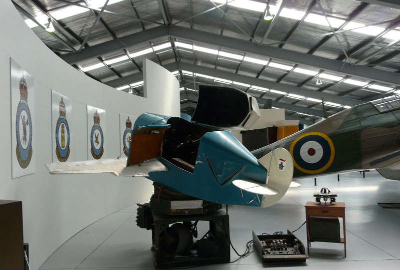 A link trainer in a museum