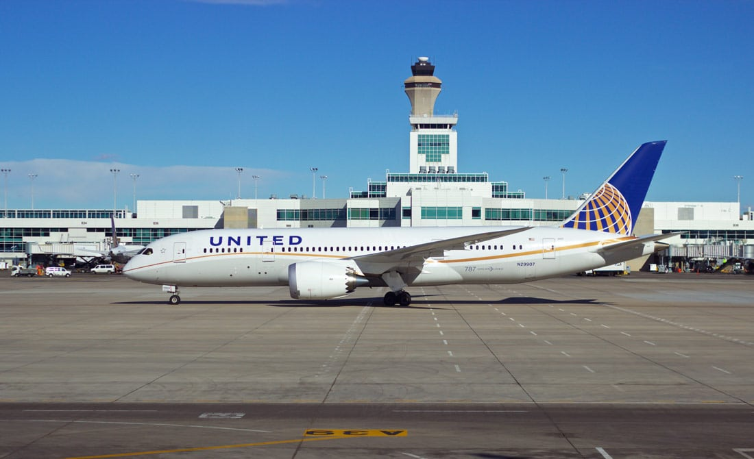 United 787 Airliner at Denver International Airport - FAA Announces Dates For Public Denver Metroplex Project Meetings