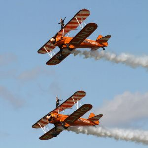breitling wingwalkers an aerobatic group that flies boeing-stearman model 75 biplanes