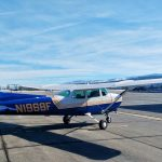 A Cessna 172 Skyhawk, at KTRK, where a student pilot is learning proper emergency engine out procedure.