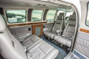 Tom Lincoln's Beechcraft 58 Baron: Interior.