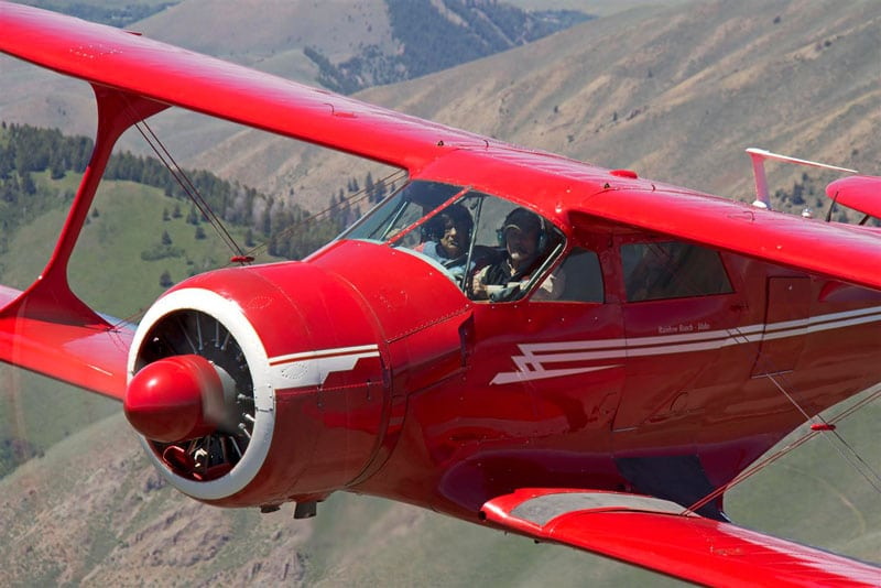 Beechcraft Model 17 Staggerwing in flight