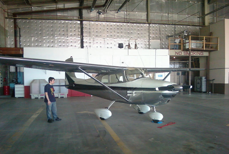 1958 Cessna 172 at home - My Most Memorable Flight: Omaha to Houston in a 50 Dollar Plane