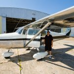 1958 Cessna 172 with raffle winner Michael Little - My Most Memorable Flight: Omaha to Houston in a 50 Dollar Plane
