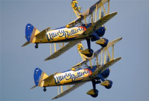 utterly butterly biplanes flying airshow pilot