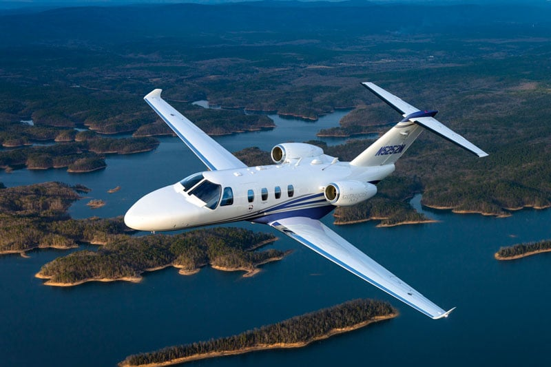 Cessna Citation M2 in flight