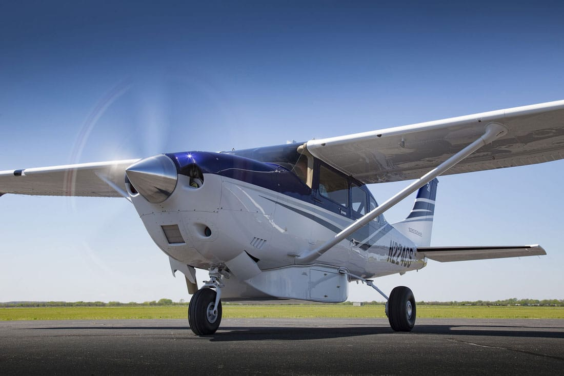 A Cessna 206 Turbo Stationair, equipped with a Lycoming TIO-540-AJ1A reciprocating engine, the subject of FAA AD 2017-11-10