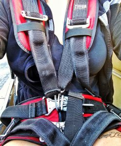 the harness I wore during my first aerobatic flight