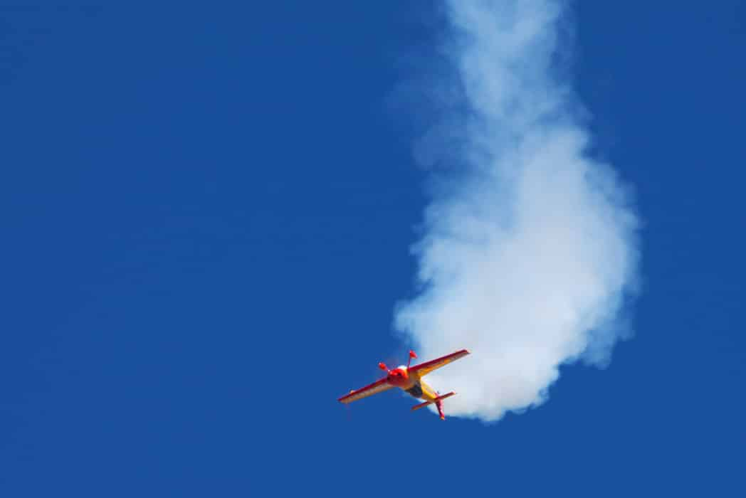 Aerobatic airplane flying inverted at the Reno Air Races - Preventing Loss of Control In Flight