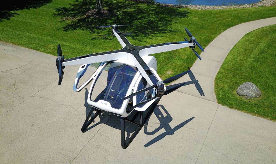 The SureFly helicopter concept from Workhorse