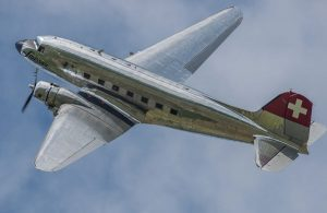 a Swissair airline douglas dc-3
