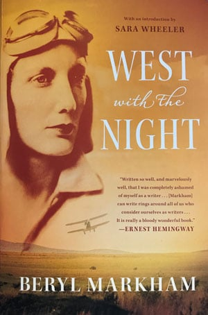 Book cover for West With the Night, by Beryl Markham